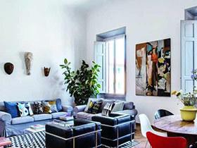 质感轻混搭 140平两居室混搭风格装修图片