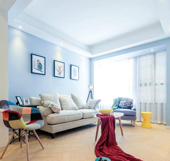 93平三室两厅客厅吊顶装修图片高清图片