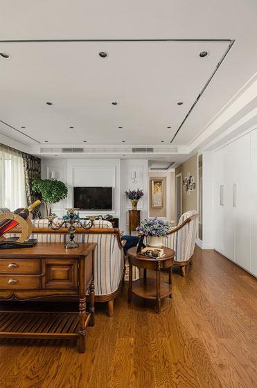 复古欧式客厅 实木地板效果图