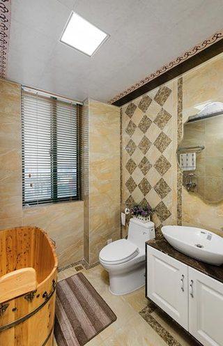 158平欧式古典风格卫生间设计效果图