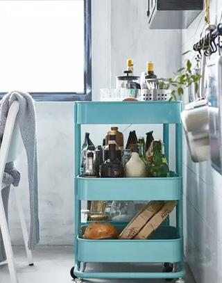 实用厨房可移动收纳架图片