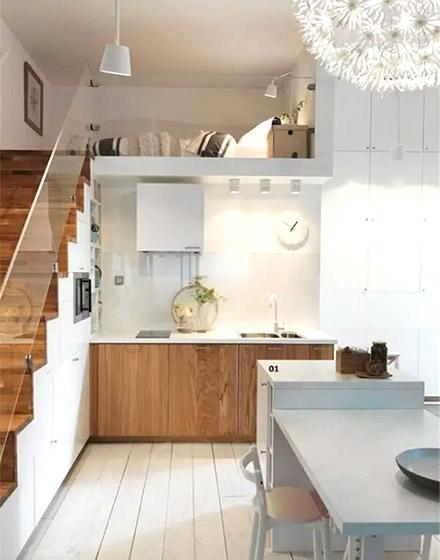 小户型loft风格厨房装修图