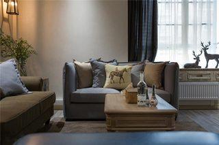 130平混搭风格客厅沙发效果图