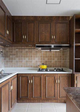 自然复古北欧风 实木厨房装修