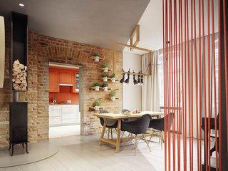 多样色彩混搭风小公寓餐厅背景墙装饰图片