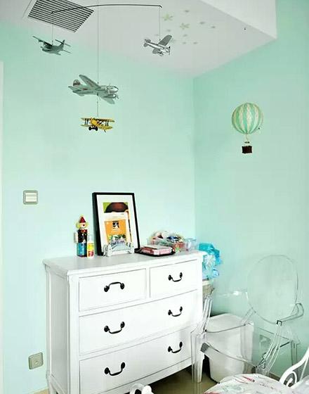 90平混搭风格儿童房收纳柜设计