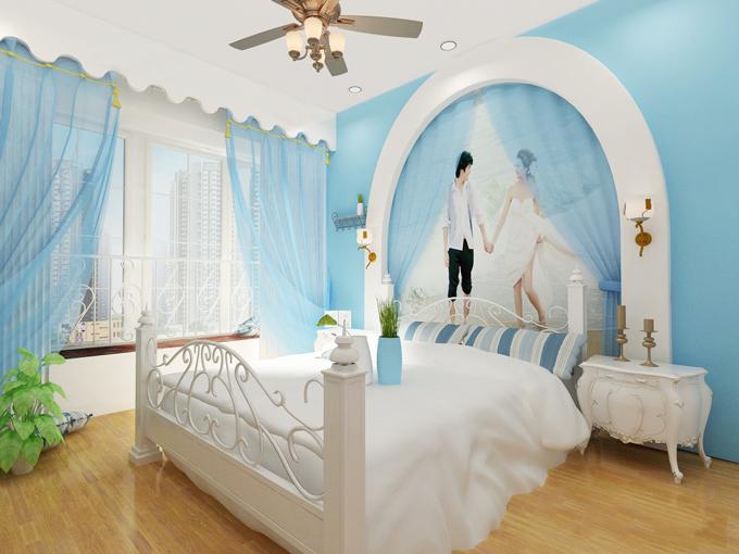 卧室照片背景墙图片
