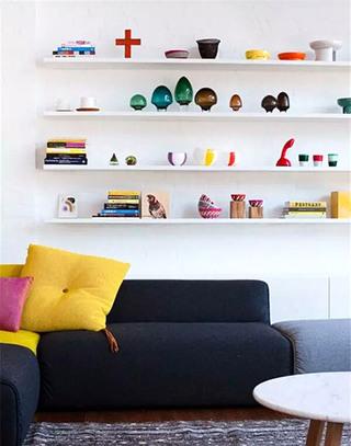可爱沙发背景墙收纳效果图大全