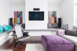 现代简约风客厅电视背景墙装饰
