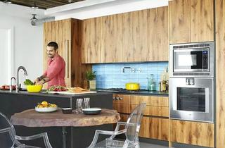 简约开放式厨房装修效果图