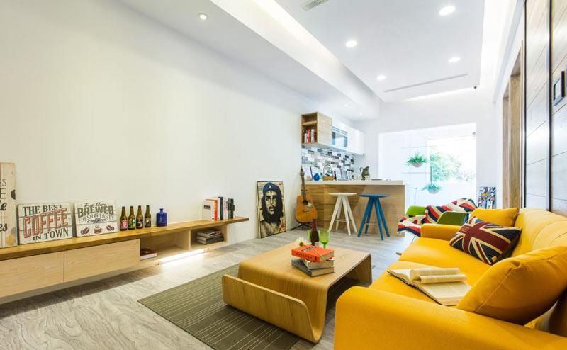 90平米现代简约客厅装修效果图