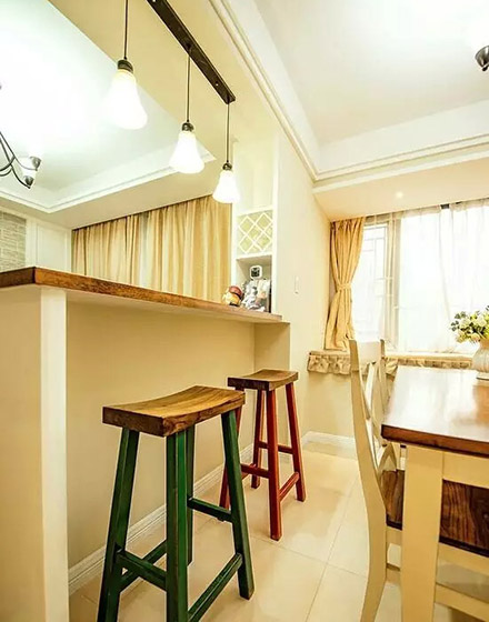 乡村美式餐厅吧台高脚凳设计