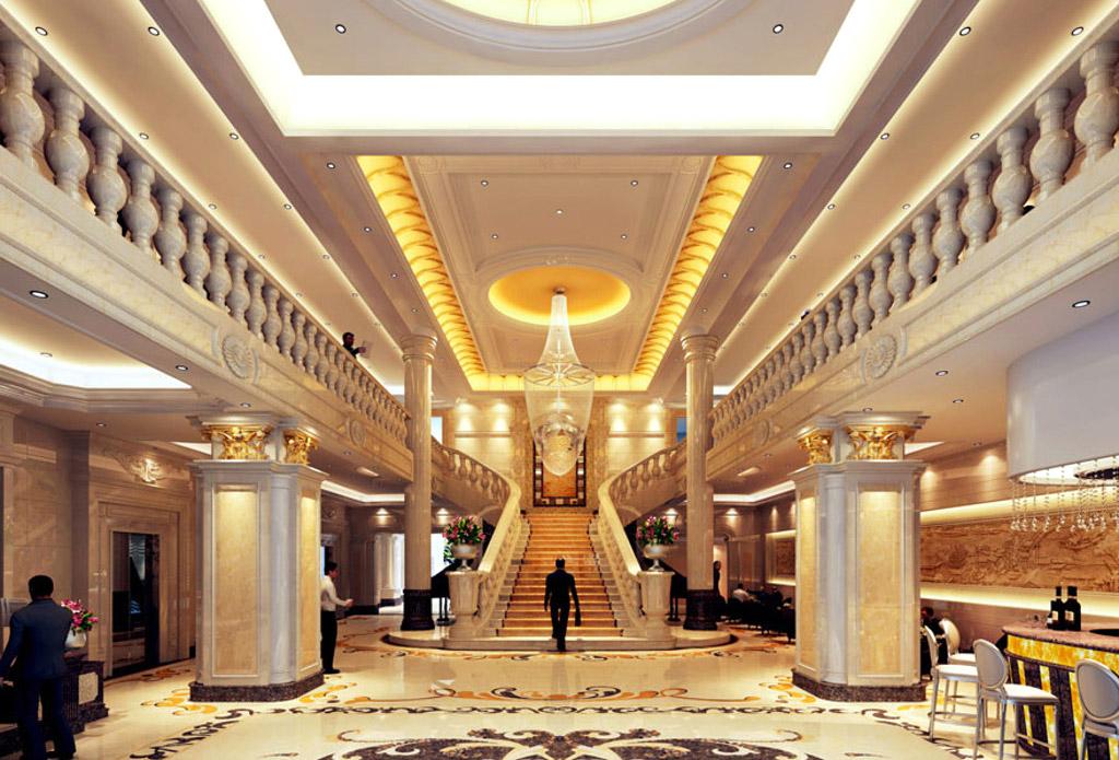 豪华酒店大厅装修设计