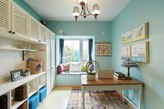 清新地中海风情 薄荷绿书房装饰大全