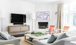 简洁北欧风 不规则客厅背景墙设计