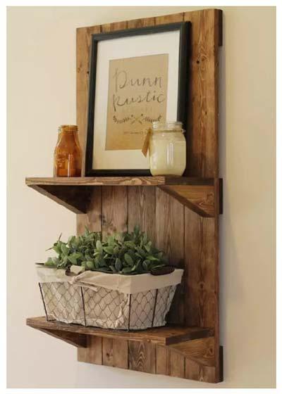 木质收纳架装饰图片