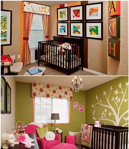婴儿房装饰设计图片