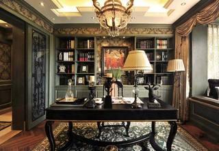 复古书房装修装饰效果图