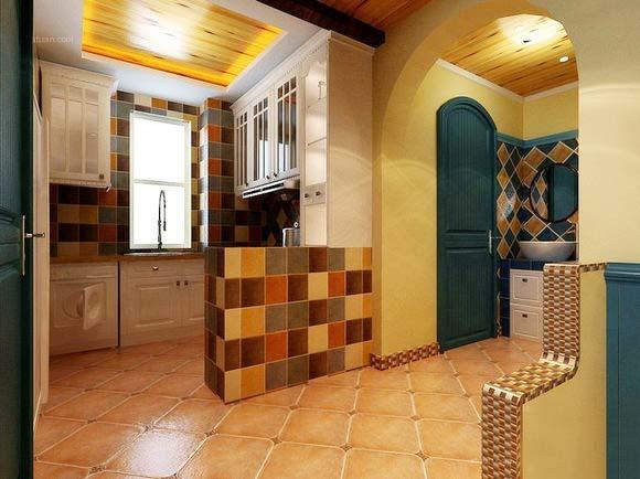 地中海厨房设计实景图