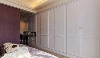 112平欧式风格白色卧室衣柜设计效果图