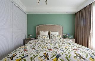 75平美式风格春意卧室设计图片