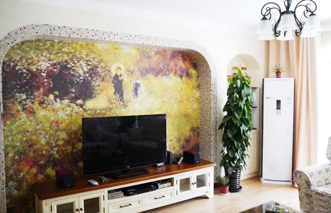 客厅背景墙创意图片