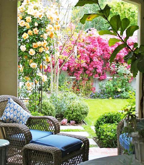一楼小花园装修效果图-一楼30平米小院效果图/一楼小花园设计/1楼小图片