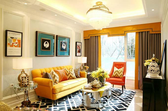 奢华新古典风情 客厅装饰效果图