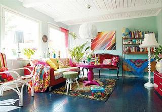 色彩客厅布置欣赏图片