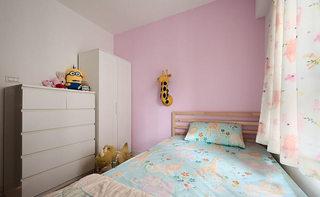 52平韩式田园粉色儿童房设计效果图