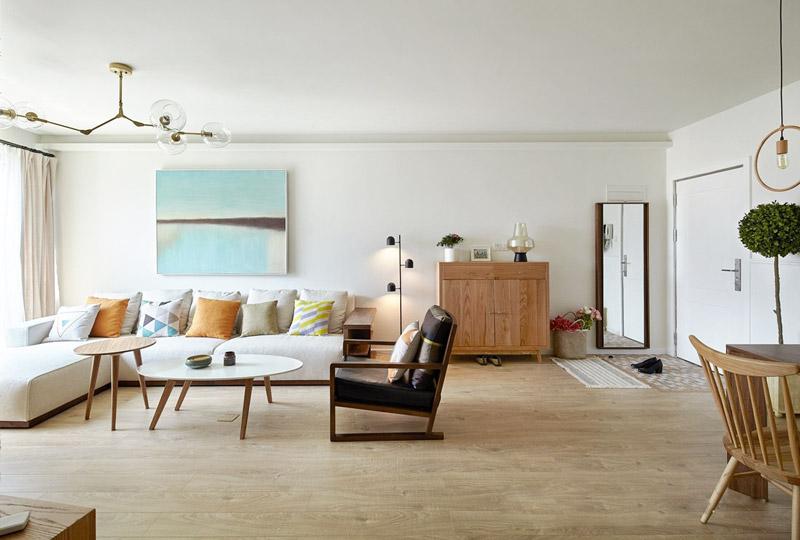 北欧风格三居室客厅装修图片