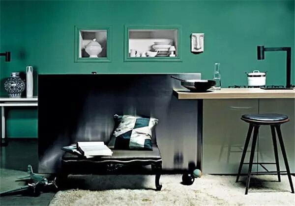 优雅绿色客厅装修图片