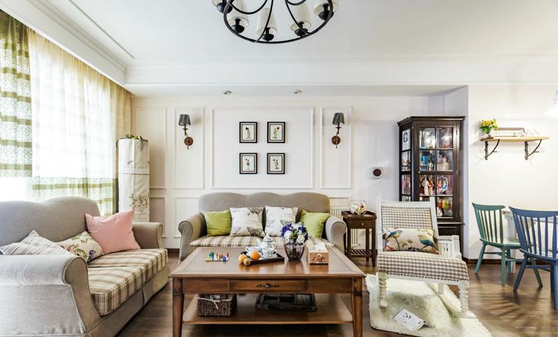 119平美式风格客厅沙发效果图