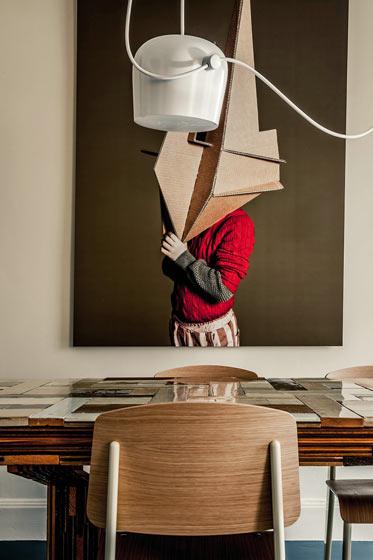 180平米巴黎公寓餐厅艺术装饰画图片