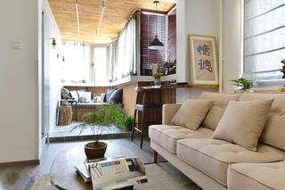 98平混搭二居室客厅沙发图片