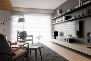 工业风混搭客厅电视背景墙设计