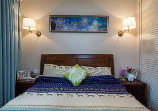 休闲美式卧室床头背景墙装饰