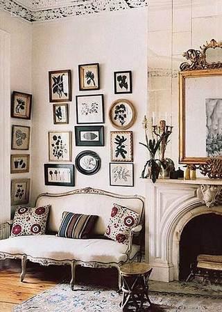 法式客厅背景墙布置图