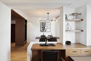 142平新中式古朴餐厅吊顶装饰效果图