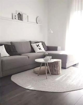 简约风格灰色客厅效果图欣赏