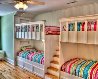 色彩儿童房高低床装修效果图