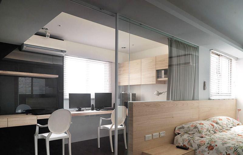 122平三室两厅卧室书房装修图片