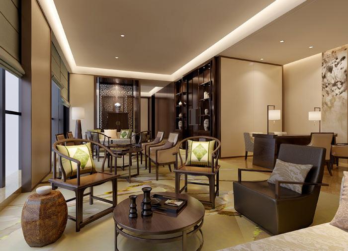温馨中式茶楼装修设计效果图