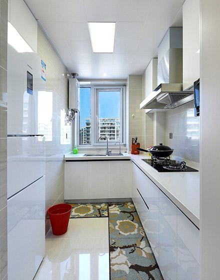 白色明亮美式厨房装修大全