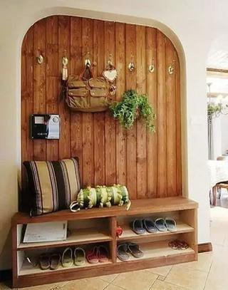 木质玄关换鞋凳装修