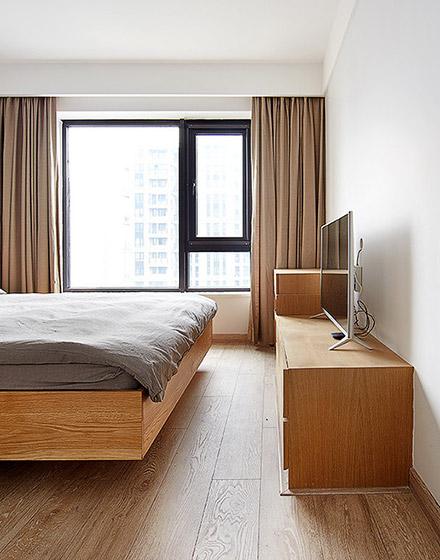 89平三室两厅卧室电视柜图片