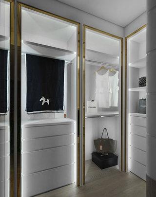 108平米单身公寓卧室带衣帽间装修设计