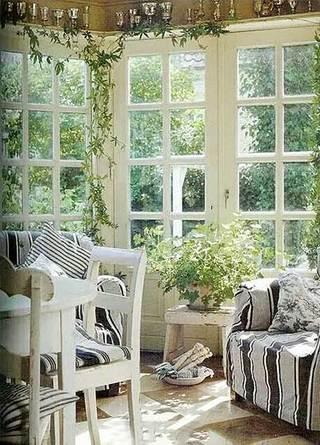 美式室内花园装饰图片