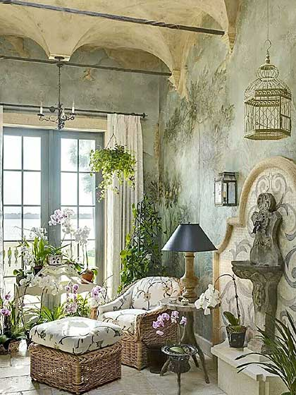 复古室内花园装修效果图
