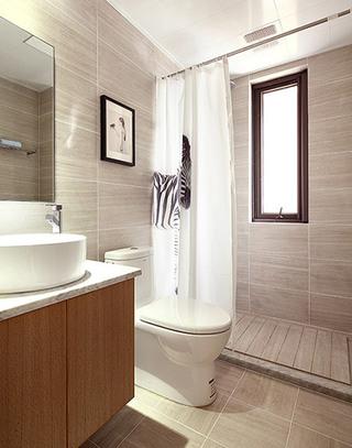 北欧风格三室两厅主卫生间装修